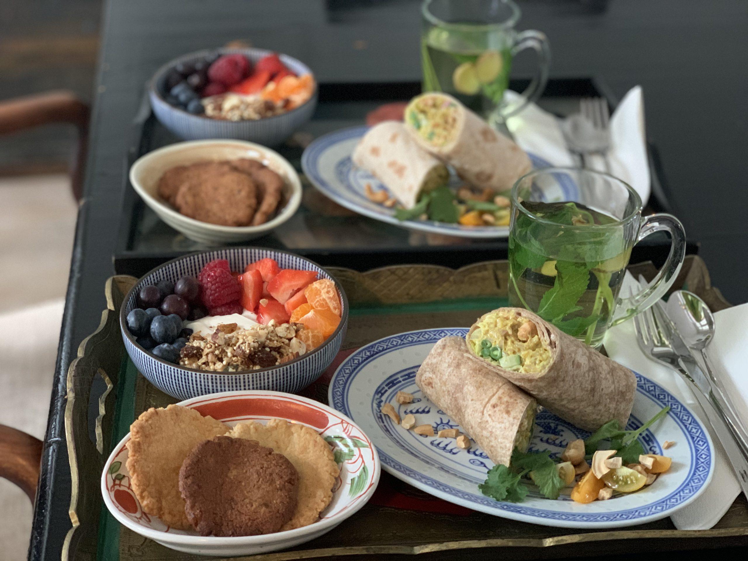 vegetarisch ontbijt b&b valkenbos met kerrie wrap