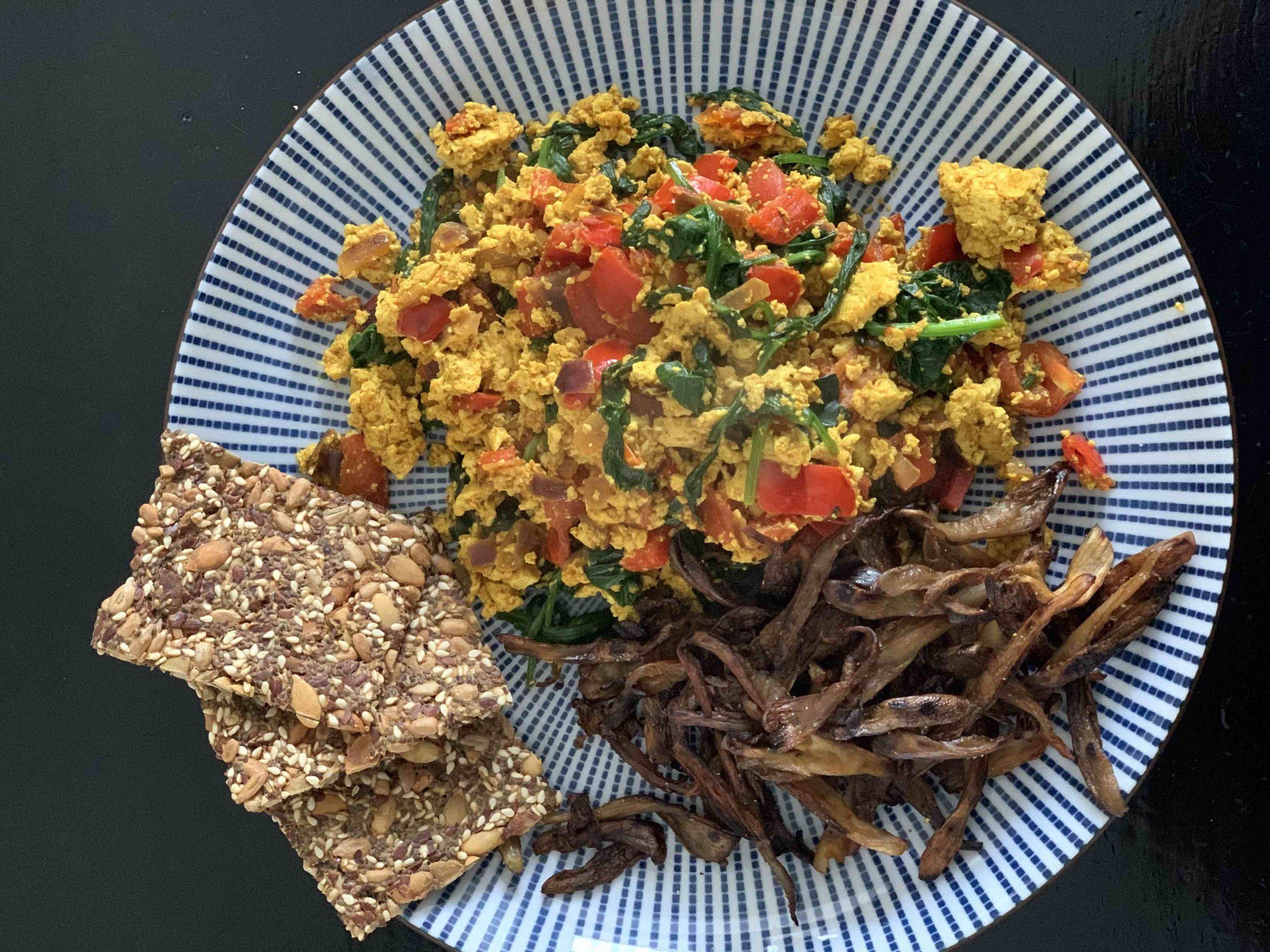 vegan ontbijt b&b valkenbos tofu scramble